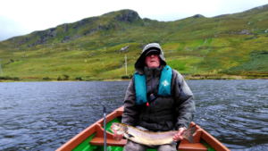 salmon and sea trout fishing on a kylemore lough