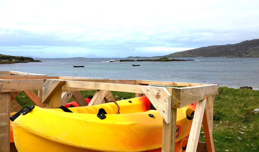 sea kayaking on the connemara coast