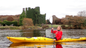 kayaking on the river corrib galway city