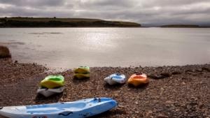 sunset kayaking. bundouglas, connemara