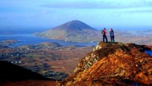 Hill walking Connemara mountain ranges