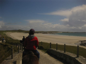 Riding down to the beach Ballyconneely